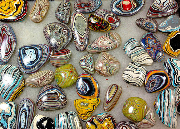 fordite stones polished for jewelry