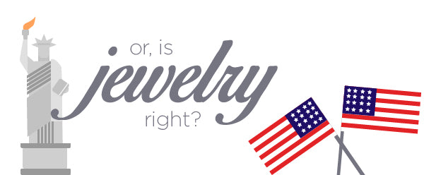 Jewelry American Word is Right