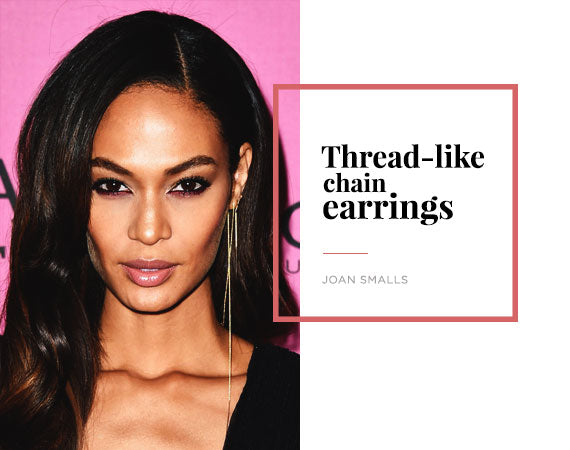 Joan Smalls Chain Earring Jewelry Trend Report