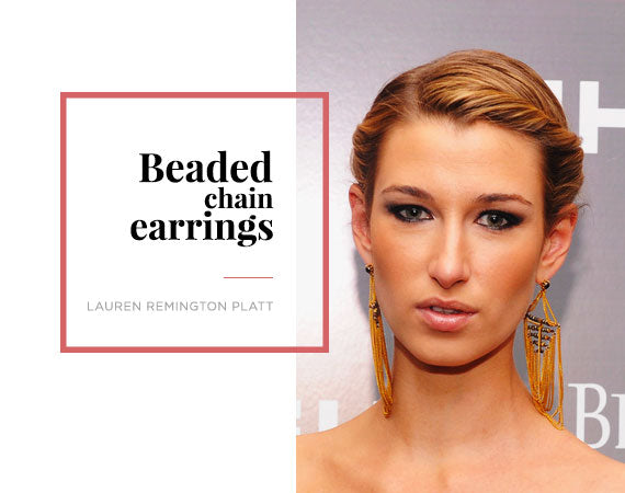 Lauren Remington Platt Gold Chain Earring Jewelry