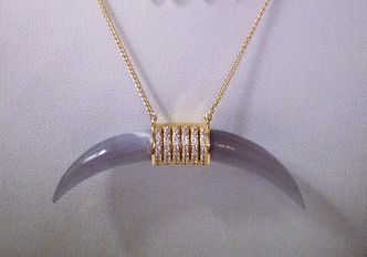 Melanie Auld Interview Double Tusk Necklace