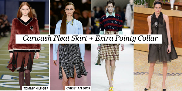 Pleat Skirt and Pointy Collar Fall Fashion Trends 2015