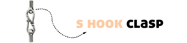 s hook necklace clasp type