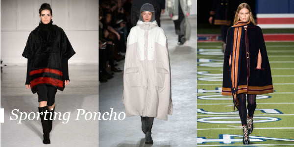 Sporting Poncho Fall Fashion Trends 2015