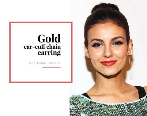 Victoria Justice Ear Cuff Chain Jewelry