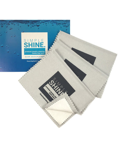Simple Shine Set of 3 Premium Jewelry Cleaning Cloths