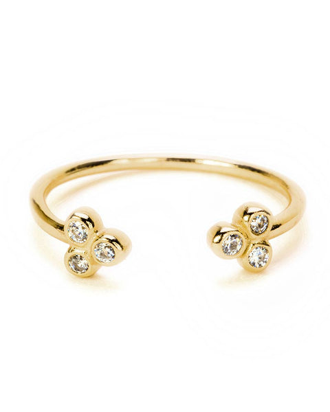 abigail gold open ring cz