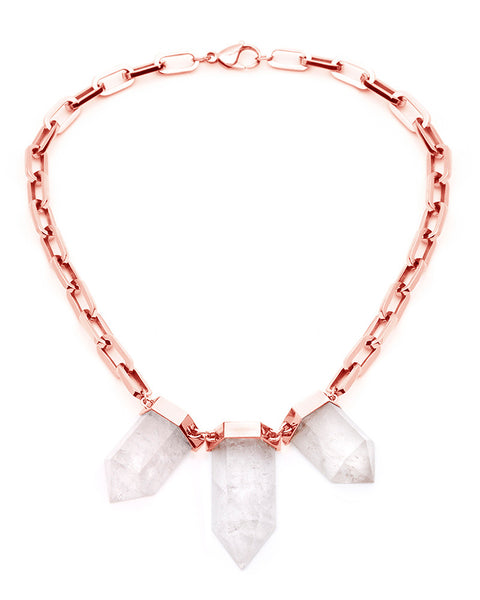 Amber Sceats Cara Rose Gold Crystal Necklace
