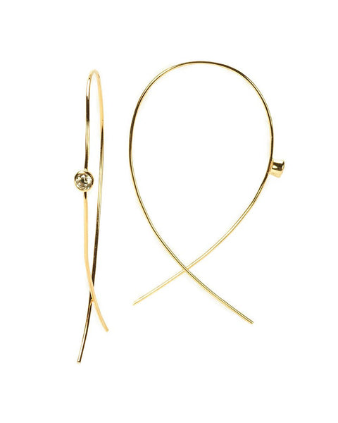 annabelle hoop gold earrings