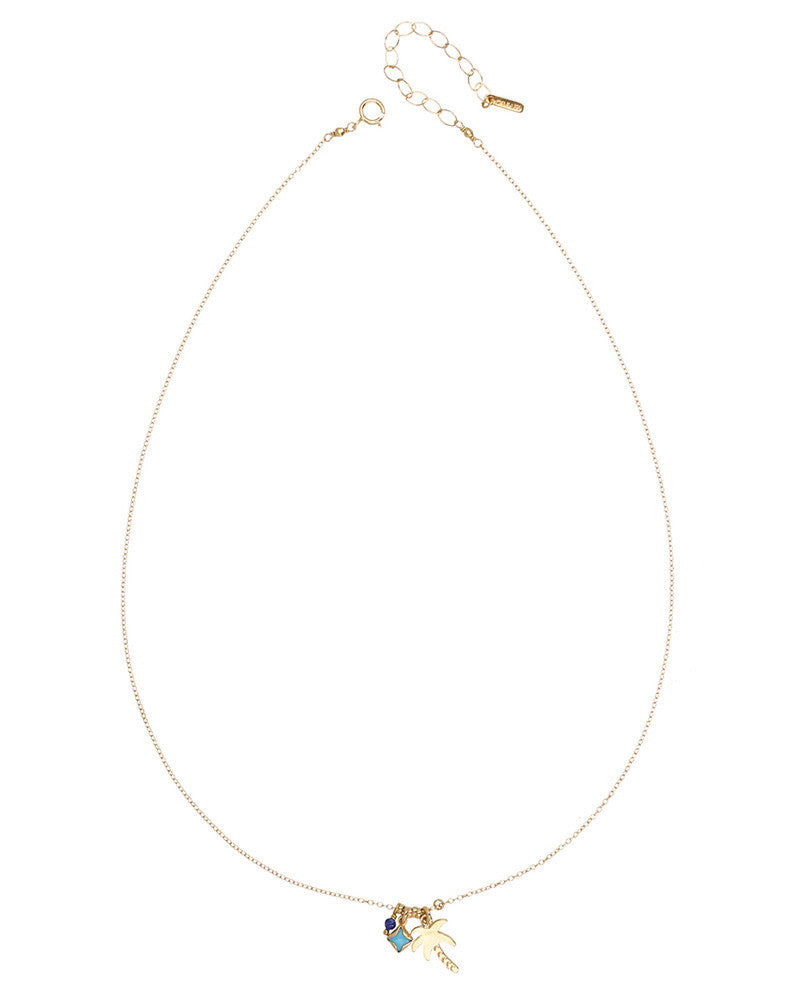 chan luu necklace gold short long charm palm cute girls women ladies slim skinny statement