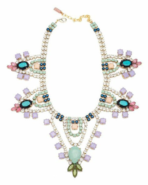 Doloris Petunia Lilac Crystal Necklace