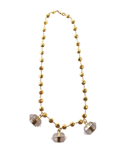 Jewels By Dunn Gold Crystal Necklace