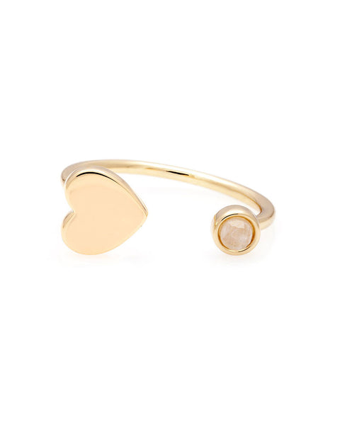 moonstone and heart ring melanie auld