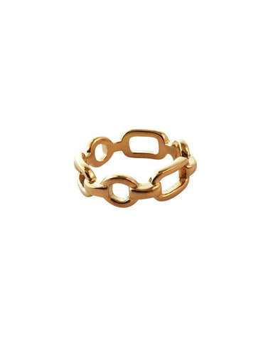 Meridian Avenue Chain Ring Gold