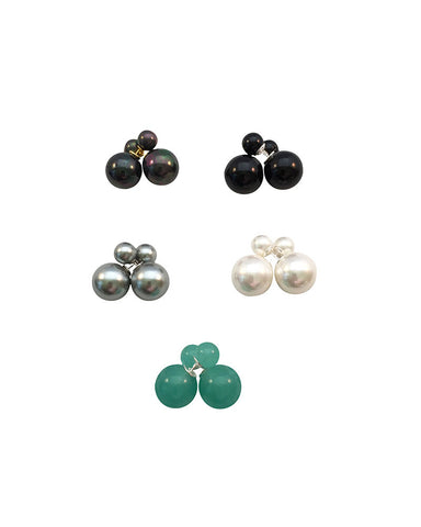 Meridian Avenue Double Pearl Earrings