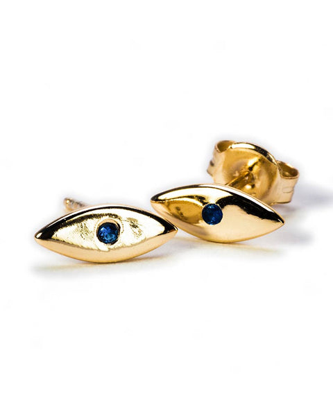naomi tiny evil eye stud earrings