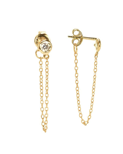 petunia chain earrings