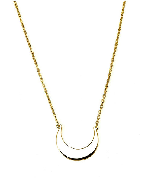 selma gold moon necklace