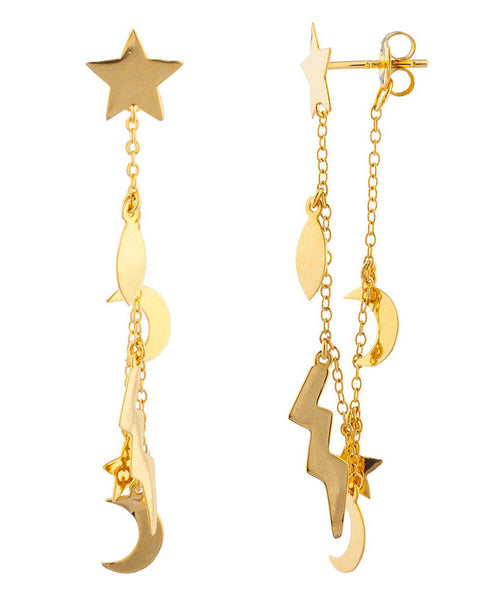 shashi little lightning bolt earrings