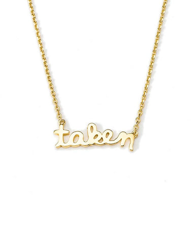 taken nameplate necklace