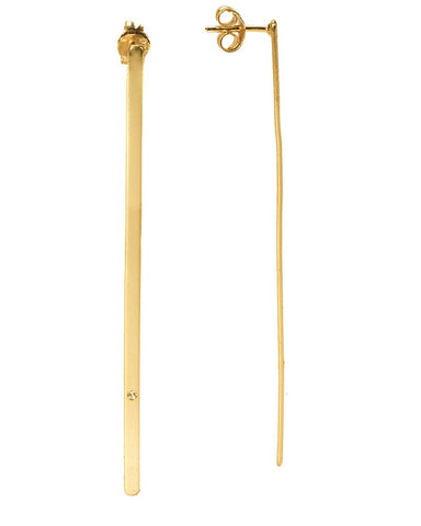 long gold vertical bar earrings