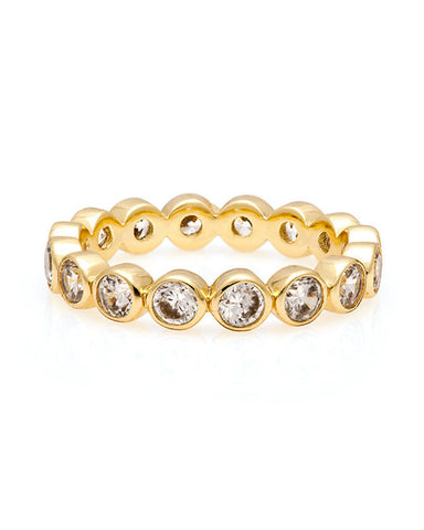 Melanie Auld AFLA Eternity Stacking Ring Gold Pave