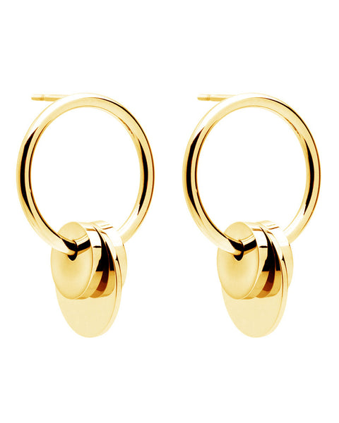 amber sceats gold bowie earrings