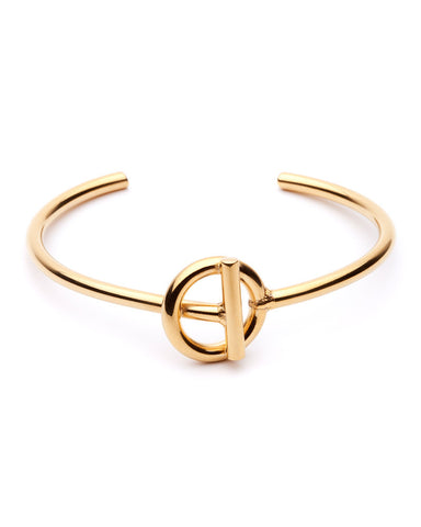 Amber Sceats Gold Harvie Bangle Bracelet