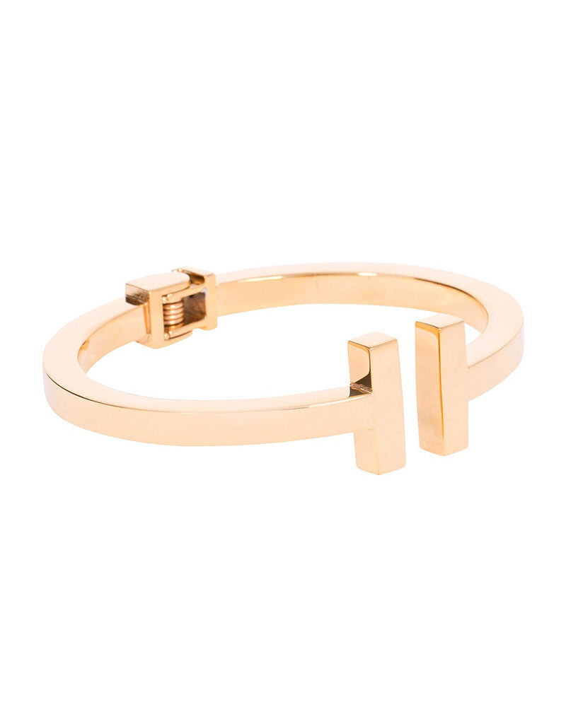 Amber Sceats Gold Max Bangle Bracelet