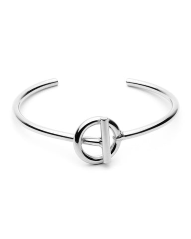 Amber Sceats Silver Harvie Bangle Bracelet