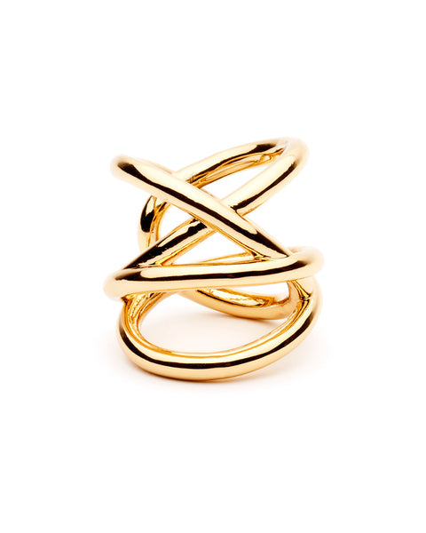 gold ring tangled stacked tyler ring designer amber sceats