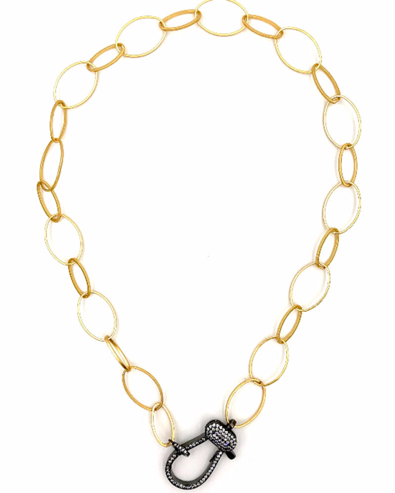 designer jewelry ashley gold chain necklace clasp black