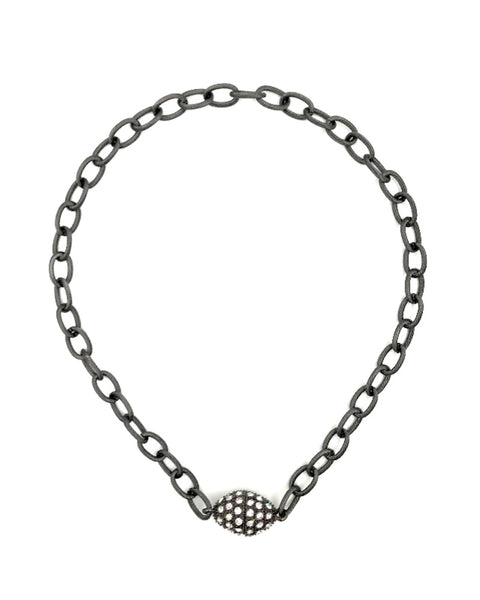 ashley gold black chain link necklace choker