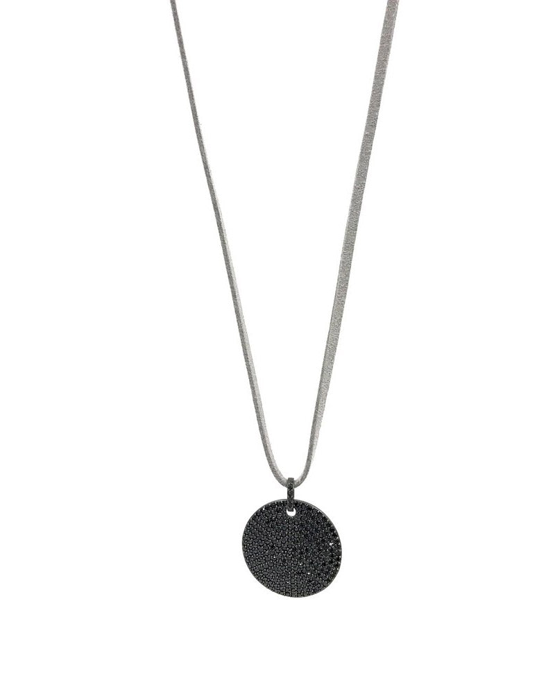 gray choker thin designer necklace ashley gold