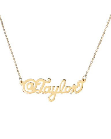 instagram username personalized necklace