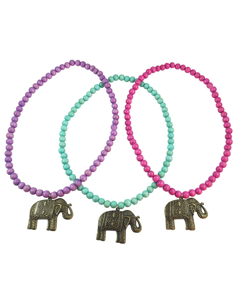 Boho Beads Elephant Beaded Necklace