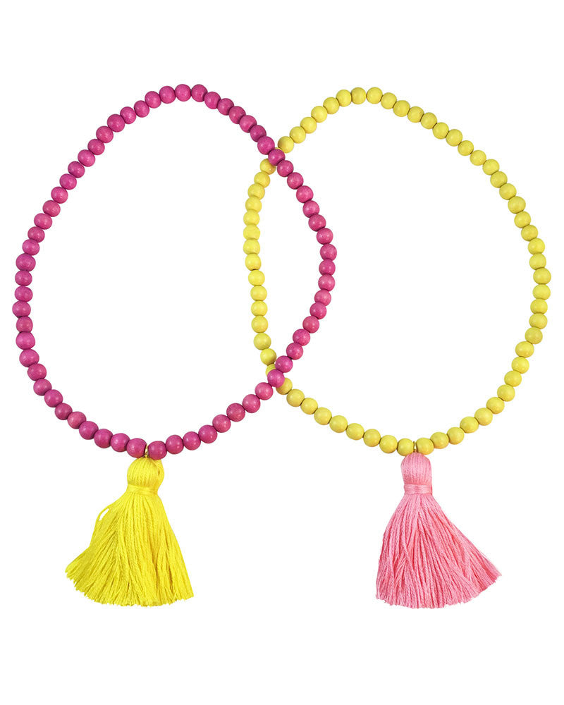 Boho Beads Tassel Necklace