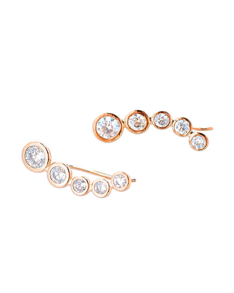 Bridgette Rose Gold Ear Climbers