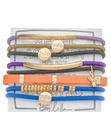 multicolored hair band bracelets