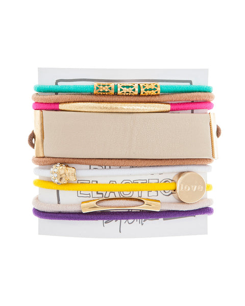 by lilla feel the funk neon hair tie bracelets
