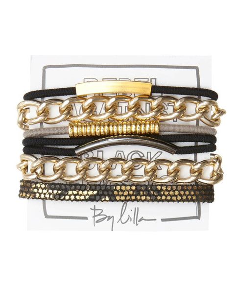 by lilla hair tie bracelet set on