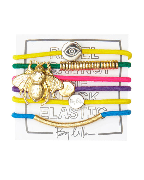 by lilla hair tie bracelet set neon