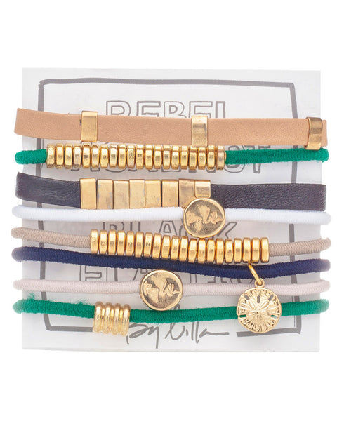 st tropez green hair tie jewelry braclets