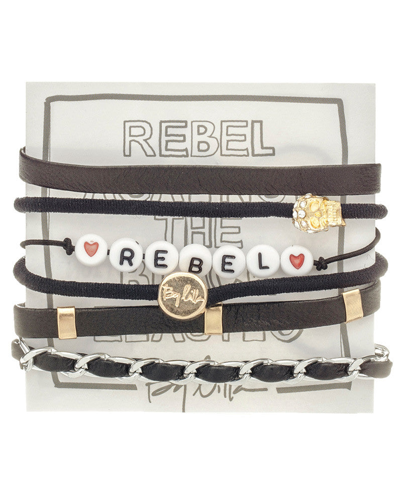 rebel by lilla hair tie bracelet