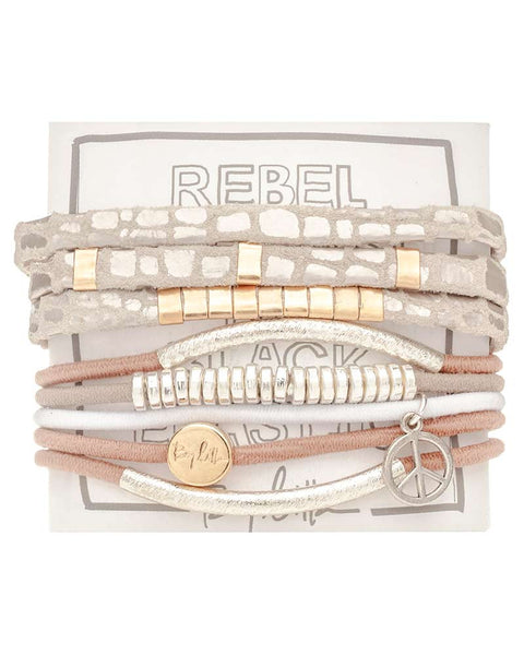 cream hair band bracelet set by lilla