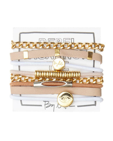 hey ms tamborine hair tie bracelet set