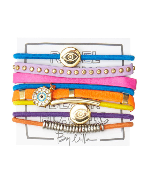 by lilla hustle hair tie bracelet set