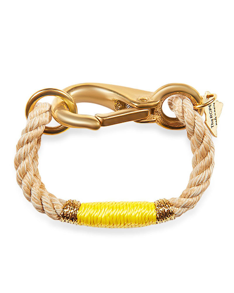 beige and yellow rope bracelet from maine