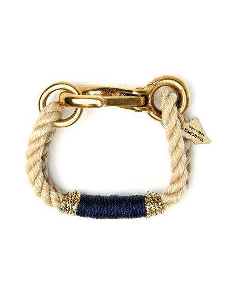 natural ropes maine with navy and gold