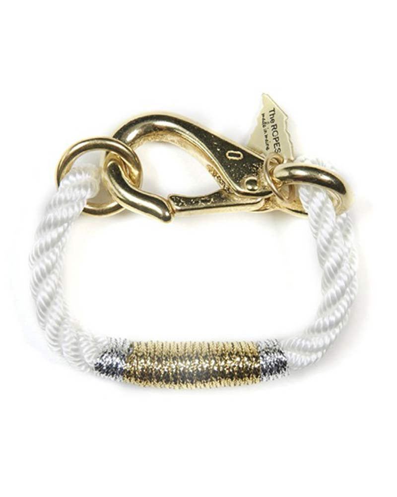 maine camden bracelet white and gold and silver